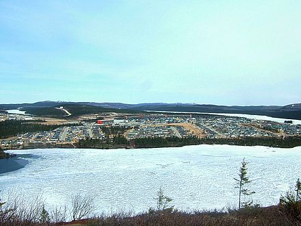 The mining town of Fermont, North Shore, the beginning of the road of iron Fermont.JPG
