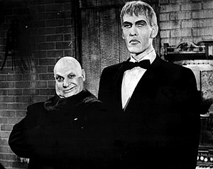 Ted Cassidy - Jackie Coogan and Cassidy (right) on The Addams Family
