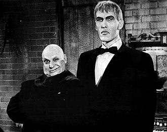 Lurch (The Addams Family) - Ted Cassidy (on right) as Lurch with Jackie Coogan as Uncle Fester (left).