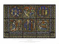 Feuille A Monografie de la Cathedrale de Chartres - Atlas - Vitrail de la vie de Jesus Christ - Restored Version 62-.jpg