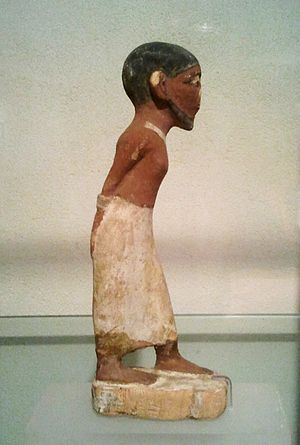 Jewish history - A Semitic slave. Ancient Egyptian figurine. Hecht Museum