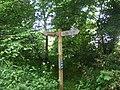 Fingerpost on old Deeside Railway by Duthie Park - geograph.org.uk - 833437.jpg