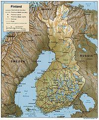 Finnország részletes térképe