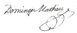 Domingo Matheu - Image: Firma de Matheu