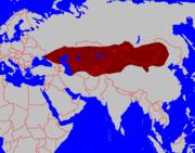 The Gokturk Empire in 551-747.