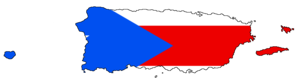 Flag-map of Puerto Rico