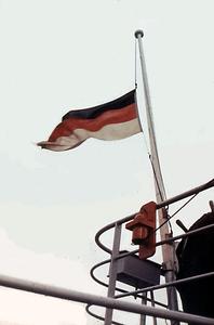 Flag at half mast for SS Pamir - September 1957.png