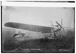 1912 Brooklands Flanders Monoplane crash - The Flanders F.4 Monoplane was developed from the Flanders F.3