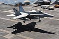 Flickr - Official U.S. Navy Imagery - F-A-18C Hornet lands aboard USS Dwight D. Eisenhower..jpg