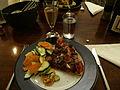 Flickr - cyclonebill - Pizza med oksekød, gorgonzola og champignon.jpg