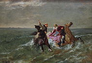 Flight of King Gradlon by Evariste Vital Luminais, Musée des Beaux-Arts de Rennes.JPG