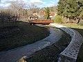 Flood protection wall, footbridge, Malom-völgyi Stream, 2020 Zebegény.jpg