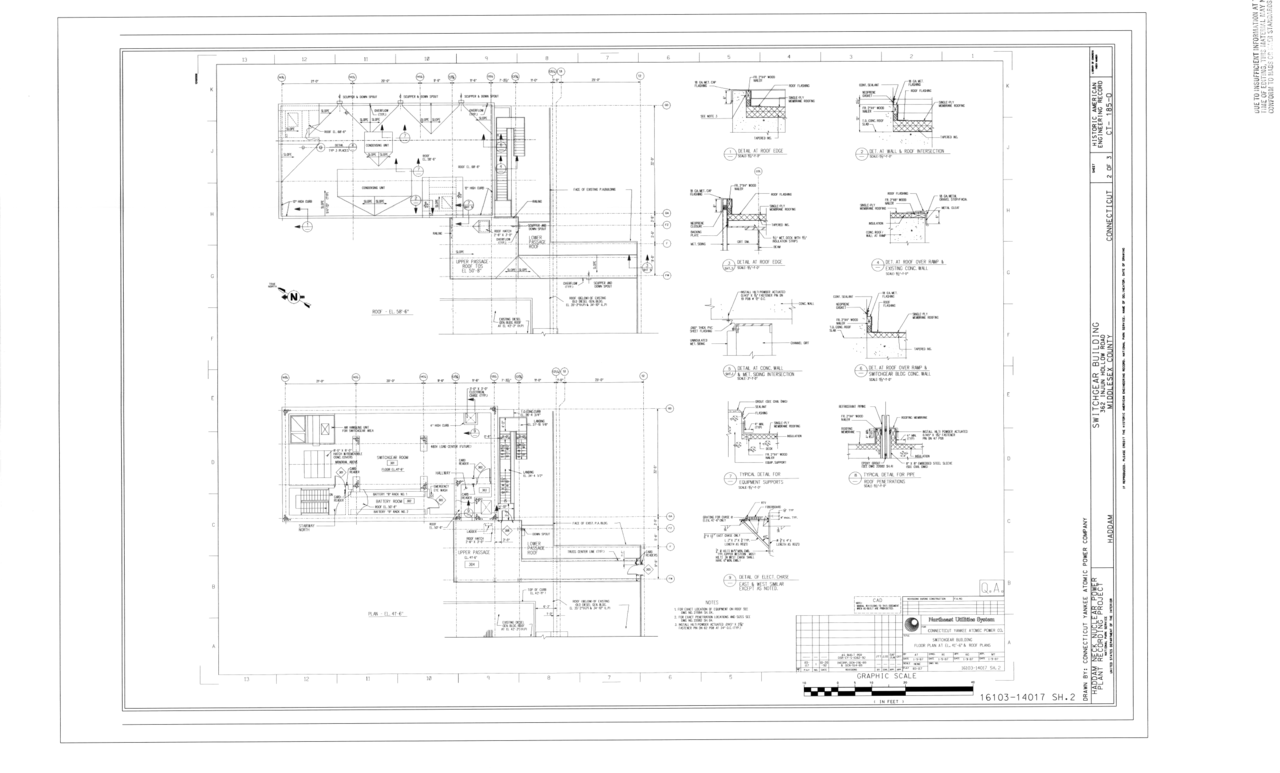 Filefloor Plans Haddam Neck Nuclear Power Plant Switchgear Line Diagram Building 362 Injun Hollow Road Middlesex County Ct Haer 185 O Sheet 2 Of 3