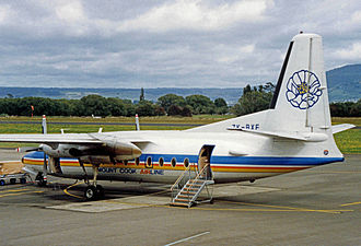 Mount Cook Airline - Fokker F.27 of Mount Cook Airline at Rotorua Airport in 1992