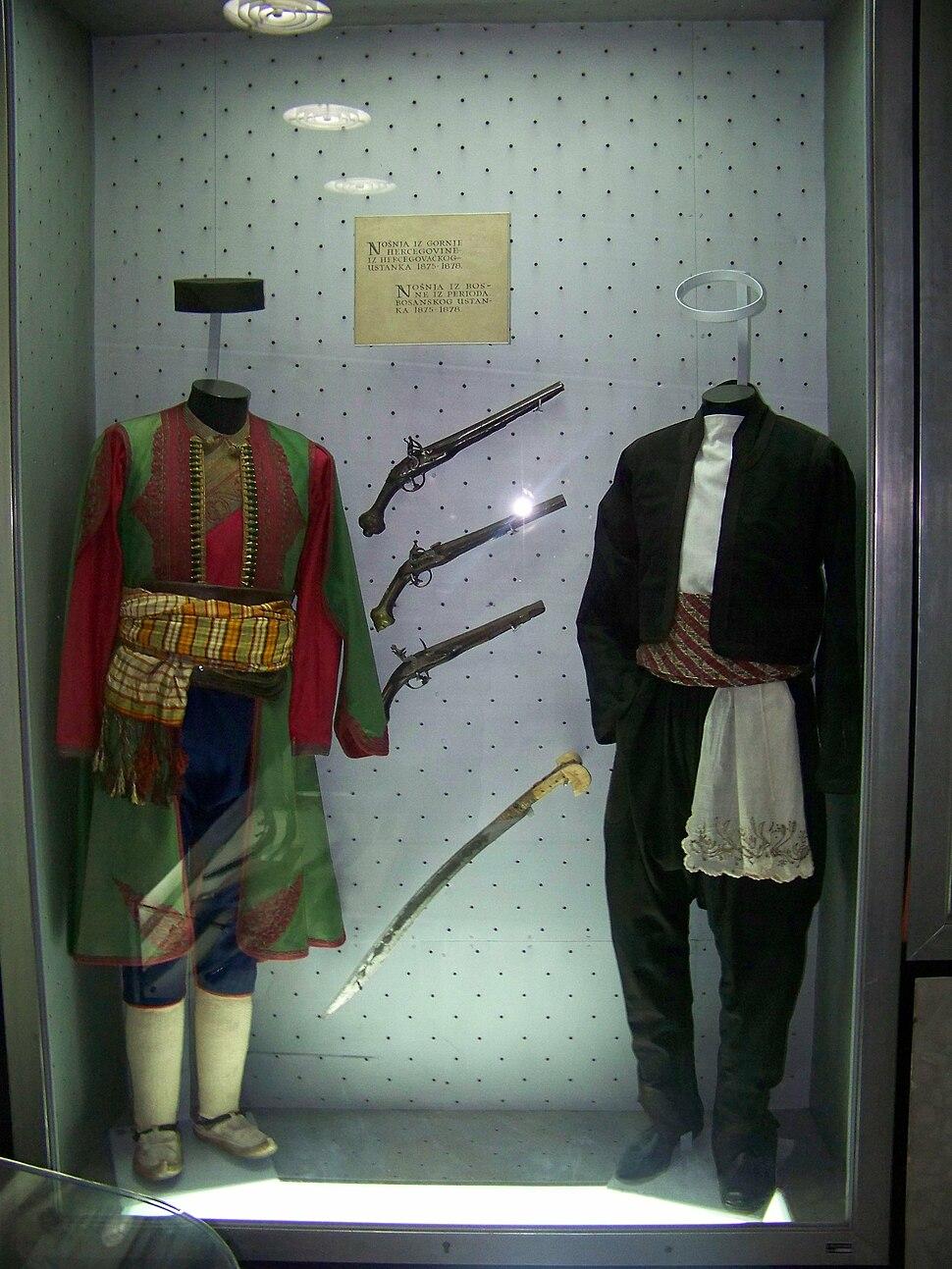 Folk attire of Herzegovina and Bosnia in 1875