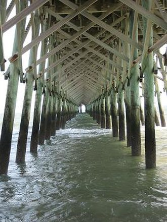 Folly Beach, South Carolina - Under Folly Beach Pier