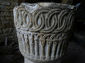 South Croxton - Carved stone font at St John's church