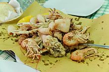 Fritto misto di mare all'italiana.