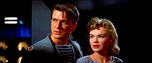 Forbidden Planet - Leslie Nielsen and Anne Francis in Forbidden Planet.