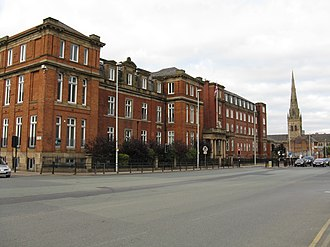 Salford Royal Hospital - The former Salford Royal Hospital in Chapel Street (now luxury flats)