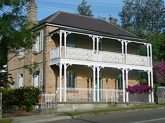 Old South Head Road, Sydney - Image: Former school residence Watsons Bay