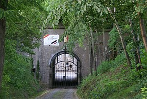Fort de Barchon - Image: Fort Barchon Ingang