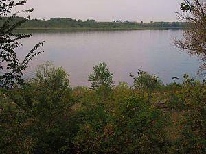 Fort Renville - Overlook of Fort Renville site on Lac qui Parle