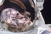 Fossum and Sellers on Spacewalk
