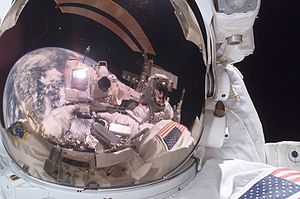 Michael E. Fossum - Image: Fossum and Sellers on Spacewalk