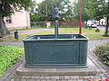 Fountain at Saint Mary's church in Langewiesen.JPG