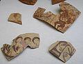 Fragments de ceràmica amb decoració figurada, Edeta, Museu de Prehistòria de València.JPG