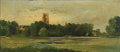 Francis Blin - Landscape with ruin at a lake.png