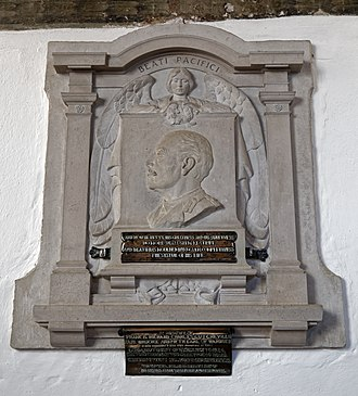 Francis Greville, 5th Earl of Warwick - Francis Greville monument in St Mary's Church, Little Easton