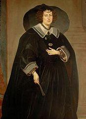 Claudia de' Medici (1604-1648), Erzherzogin, in Witwentracht, Kniestück