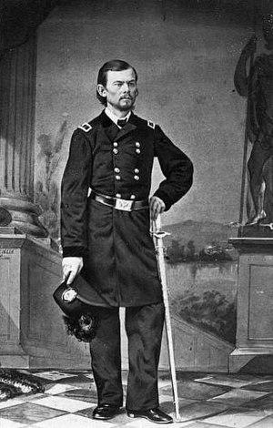 General Franz Sigel, full-length portrait, in ...