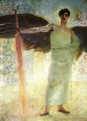 The Guardian of Paradise - Image: Franz Von Stuck The Guardian of Paradise