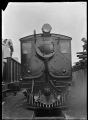 """Front view of """"D"""" 1 steam locomotive (Clayton, 0-4-0T type), circa 1929 ATLIB 314702.png"""