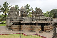 Frontal view of Kedareshvara temple (late 11th century) at Balligavi 1.JPG