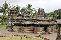 Frontal view of Kedareshvara temple (late 11th century) at Balligavi 1.JPG