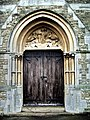 Fulham Palace Road Cemetery, Chapel doorway - geograph.org.uk - 1039597.jpg