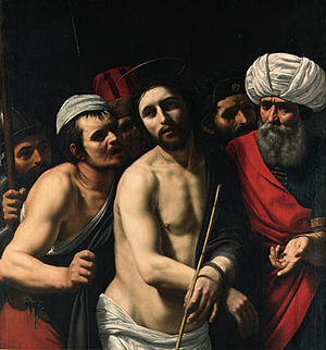 Gerard Douffet - Ecce Homo, until the 1950s attributed to Caravaggio: in 1998 sold for £91,700 at Christie's