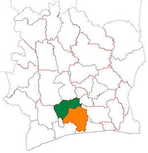 Gôh - Image: Gôh region locator map Côte d'Ivoire