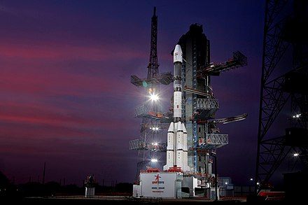 GSLV F11 at Second Launch Pad GSLV F11 GSAT-7A campaign- Vehicle at Second Launch Pad 02.jpg