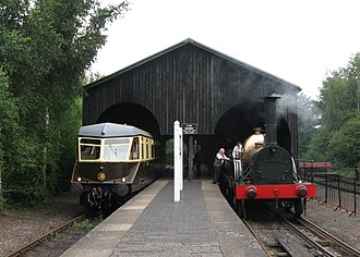 Didcot Railway Centre - The former broad-gauge transfer shed is now used as a station building on the branch line
