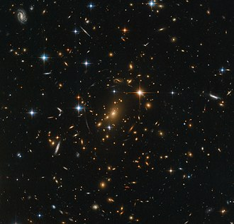 Observable universe - Galaxy clusters, like RXC J0142.9+4438, are the nodes of the cosmic web that permeates the entire Universe.