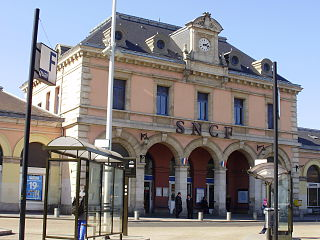 railway station in Meaux, France