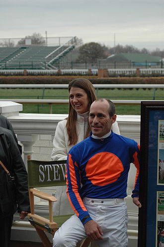 Gary Stevens (jockey) - Gary Stevens at his 2005 retirement with his wife, Angie.