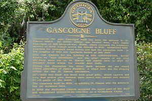 Gascoigne Bluff - Image: Gascoigne bluff marker, St. Simons, GA, US