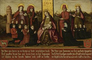 Memorial tablet of Jacob Jan van Assendelft (1396-1478) and his wife Haesgen van Outshoorn (?-1471)