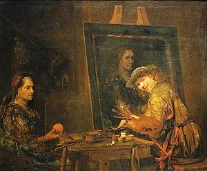 Dutch Golden Age painting - Aert de Gelder, Self-portrait as Zeuxis (1685)